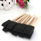 5pcs Foam Sponge Brush Toy Covered Wooden Handle Children Painting Graffiti New