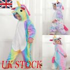 Kids Rainbow Unicorn Kigurumi Animal Cosplay Costume Onesie16 Pajamas Sleepwear