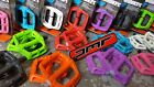 DMR V6 Plastic Flat Platform Pedals (NEW) Mountain Bike BMX Nylon (8 Colours)