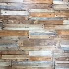 vinyl Wallpaper textures brown gray vintage faux rustic barn Distressed wood 3D