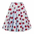 Hell Bunny Lila Ladybird 50's Skirt Rockabilly Pin Up Retro Swing Vintage