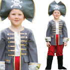 Kids Pirate Captain Costume Boys Fancy Dress Halloween Age 3-11 Years Amscan