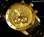 NEW Invicta Men 48mm Sea Spider Chronograph 18K Gold Plated Stainless Steel Watc