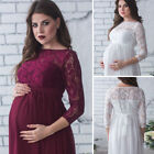 Pregnant Women Lace Sheer Maternity Gown Maxi Dress Photography Props
