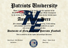 New England Patriots #1 Fan Diploma Certificate for Man Cave NFL Novelty Gift $19.99 USD on eBay