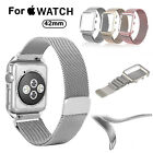 Magnetic Loop Stainless Steel Band Strap+Frame for Apple Watch 42mm Series 1/2/3