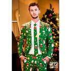 MENS ADULT GREEN FESTIVE CHRISTMAS XMAS PARTY NOVELTY SUIT OPPOSUITS
