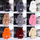 18CM Cute Bunny Rabbit Fur Car Pendant Handbag Charm Keychain Ring Pom New