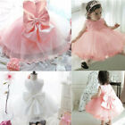 Flower Girls Princess Bow Dress Baby Toddler Party Wedding Pageant Formal Dress