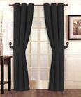 """Stylish Solid Micro Suede Window Curtain Set Grommet Top (2 panels - 40"""" x 84"""")"""