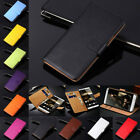 lt22i sony - Genuine Leather Wallet Flip Kistand Case Cover Black Pouch Stand Fold For Phones