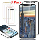 3 Pack For iPhone X 3D Curved Full Coverage Tempered Glass Screen Protector Lot