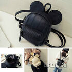 Mouse Ear Shape Girl Mini Bakpack PU Leather Zipper Closure Shoulder Bag