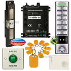 DIY Access Control Code Key Ring Kit + Electric Strike for Push Bar Door Lock