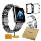 WZ Butterfly Link Stainless Steel Strap Watch Band for Apple Watch Series 3 / 2