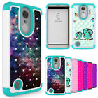 For LG K20 Plus / K20 V Case Hard Silicone Hybrid Bling Diamond Skin Phone Cover