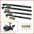 Shakespeare Reel Telescopic Spin Set Carbon Lineaeffe Travel fishing Rod & Line