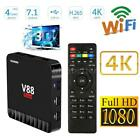 V88 Piano 4GB/16GB Android 7.1 Smart TV Box RK3328 Quad Core DLNA WIFI 4K X7V9