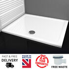 White Stone Resin Rectangle Low Profile Slim Shower Tray 40mm High & Free Waste