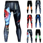 Men's Running Compression Pants Base Layer Workout Athletic Yoga Long Tights New