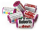 Personalised Mini Love Heart Sweets for Weddings favours, Just Married - V4
