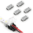 WIRE TO STRIP CONNECTOR CLIP LED STRIP 8mm/10mm RGB/Single 2Pin/4Pin PCB ADAPTER