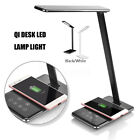 48 LED Table Lamp Desktop Light Qi Wireless Charging Pad Charger For iPhone X 8