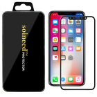 """SOINEED® Apple iPhone X """"3D Edge Real Glass"""" Tempered Screen Protector Black"""