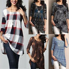Ladies Loose Long Sleeve Cotton Casual Blouse Shirt Tunic Tops Fashion Blouse