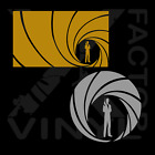 2 shapes! Bond, James Bond round vinyl decal 14 colors FastFreeShip 007 spectre $4.95 USD on eBay