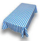 Picnic Check Print Indoor/Outdoor Vinyl Flannel Backed Tablecloth - 52x70 inch