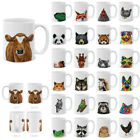 MUGBREW 11 OZ Animal Design Ceramic Travel Mug Home Tea Coffee Cup For Gifts
