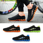 Men Athletic Fashion Casual Sneakers Running Breathable Sports Shoes Lace Up #X3