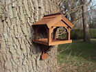 Wooden/Timber Bird Table Wall/Fence Moun...