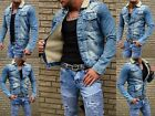 Redbridge Men's Rocker Biker Fur Young Fashion Jeans Clubwear Denim Style Jacket