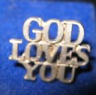 Tiffany & Co God Loves You  Sterling Silver Lapel Tie Tack Pin price cut Save$$$