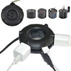 Universal Travel Power Strip Doughnut Charger Station World Adapter Plug USB