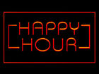 Happy Hour Bar Coffee Open Beer Drink Pub Ads Led Light Sign R