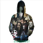 the newest horror movies 2014 - Newest Fashion Men's Horror Movie/Shark/Zombie 3D Hoodies Zipper Outerwear COOL