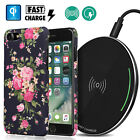 Luxury Set: Super-FAST Qi Wireless Charger Pad Flower Case Apple iPhone X/8 Lot