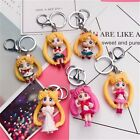 Sailor Moon Characters Keychain Keyring Figure Cosplay Toys Charm Anime Gifts