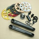FIT BMX BIKE INDENT 3pc BICYCLE CRANKS w/ KEY SPROCKET PRIMO CULT KINK
