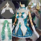 League of Legends Star Guardian Soraka Cosplay Dress Shoes Wings Accessory Wigs