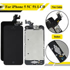 For iPhone 5 5C 5S Crown LCD Digitizer Touch Screen Replacement + Home Button