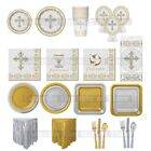 Christening First Communion Holy Cross SILVER Girls Boy Party Tableware Supplies