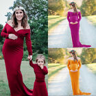 Off Shoulder Gown Maternity Maxi Dress for Women Baby shower