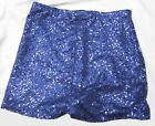 HIGH WAISTED NAVY BLUE SEQUIN SHORTS HOT PANTS XS S M L XL XXL XXXL