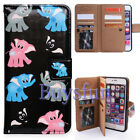 Bcov Colorful Elephants 9 Card Slot Wallet Leather Cover Case For iPhone 8 Plus