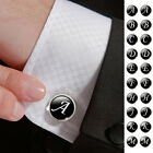 French Letters Shirt Suits Sleeve Button Cuff Link Men Cool Wedding Accessories