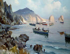 "EDWARD POTTHAST ""Boats In A Rocky Cove"" CANVAS OR PAPER 3 sizes, BRAND NEW"